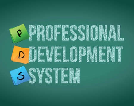 contingency: professional development system and posts on a blackboard