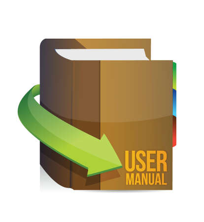 User guide, user manual book illustration design Vector