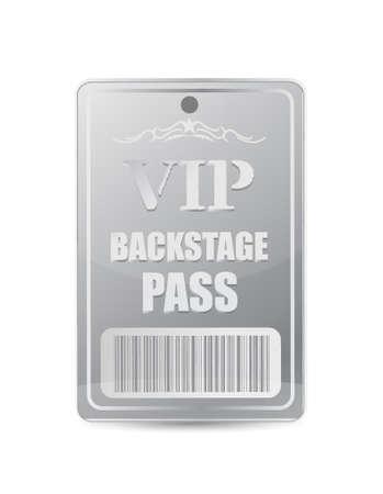 venue: Backstage pass VIP design illustrazione su bianco