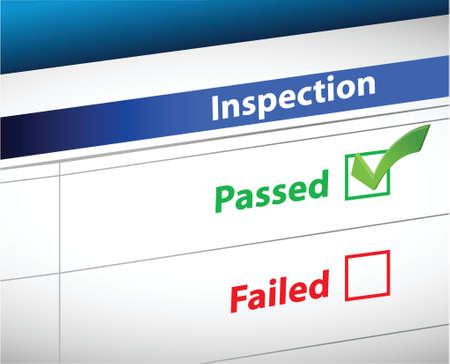 tickbox: Inspection Results business paperwork illustration design graphic