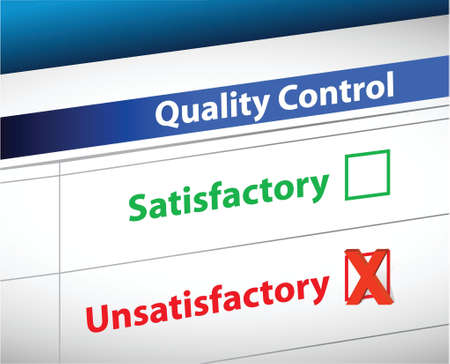 satisfactory: quality control Results business paperwork illustration design graphic