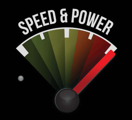 speed and power concept speedometer illustration design graphic Stok Fotoğraf - 18278989