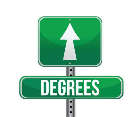 degrees sign illustration design over a white background Vector