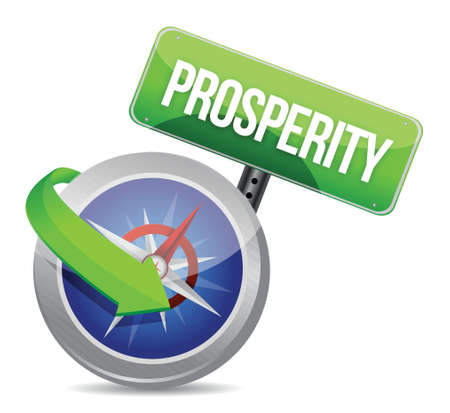 prosperity Glossy Compass illustration design over white Stock Vector - 18279031