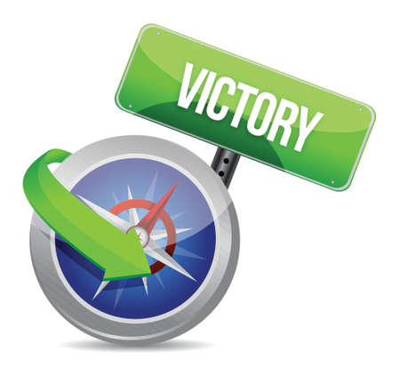 victory Glossy Compass illustration design over white Stock Vector - 18279029