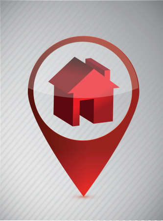 forewarn: House location sign illustration design over a white background Illustration
