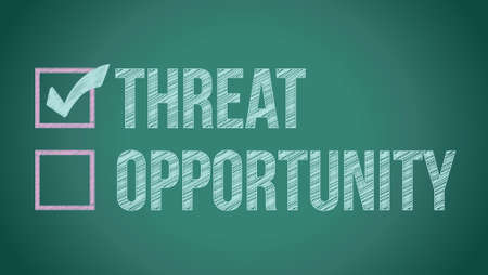 opportunity vs threat illustration design on a blackboard Stock Vector - 18278916