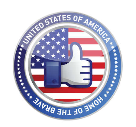 president of the usa: like hand USA button over white background