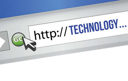 url: technology URL string illustration design over a white background