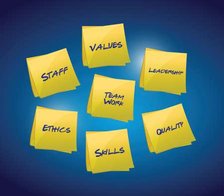 Business and organizational diagram illustration design over blue Illustration