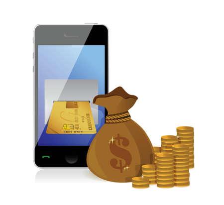 Financial Concept Make Money illustration design over white Stock Vector - 18324101