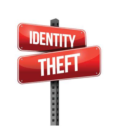 白い背景の上のアイデンティティ盗難イラスト デザイン