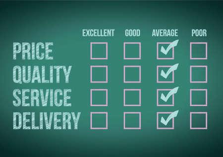 unsatisfied: evaluate customer survey form illustration design over a white background
