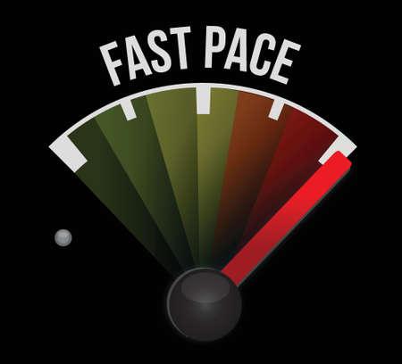 rythme: rapide design illustration rythme compteur de vitesse sur un fond blanc Illustration