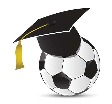 Fußball-Training Schule, Illustration, Design in weiß