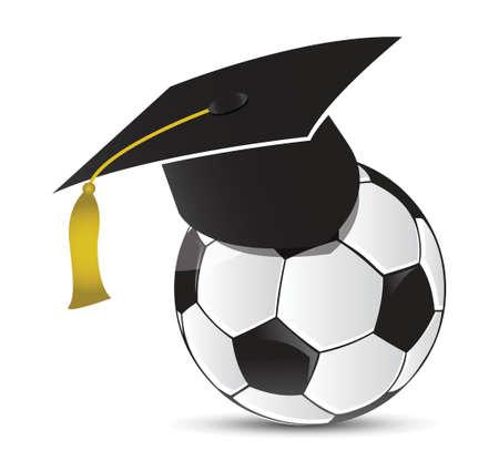 soccer training school illustration design over white Stock Vector - 18324081