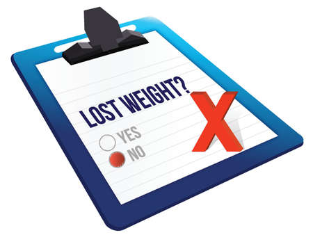 yes or no: lost weight yes or no selection illustration design over white
