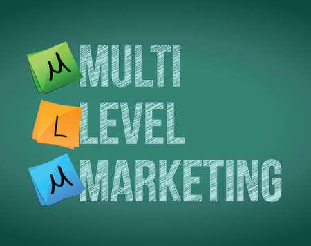multi level: Multi Level Marketing illustration design over white