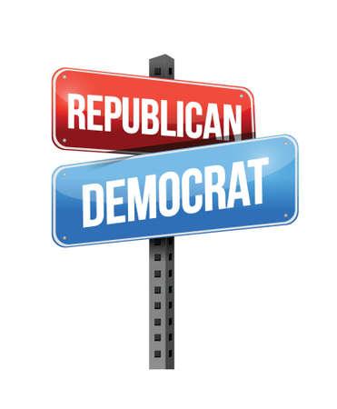 democrat: republican, democrat illustration design over a white background