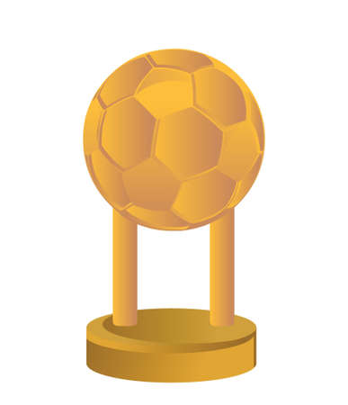 Gold Trophy Cup football soccer on a white background Stock Vector - 18323989