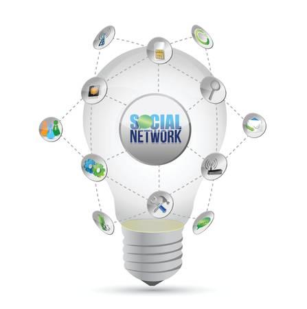 social media network idea illustration design over a white background Stock Vector - 18324148