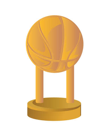 Gold Trophy Cup Basketball on a white background Stock Vector - 18324045
