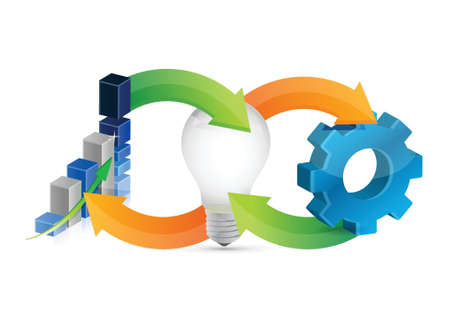 schemes: business idea cycle illustration design over a white background Illustration