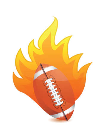 dimple: Football Ball in fire illustration design over a white background Illustration