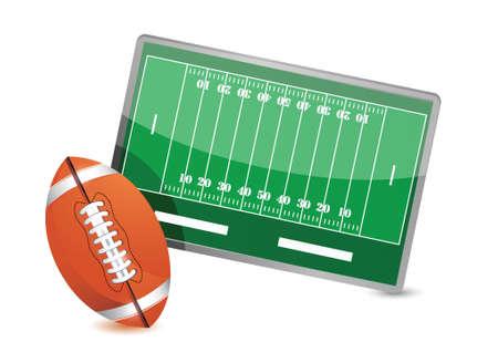 gainer: Football field tactic table, Football balls illustration design over white Illustration