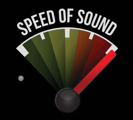 speed of sound: speed of sound speedometer illustration design over a white background