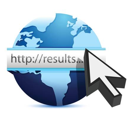 globe searching for results illustration design over white Stock Vector - 18324127