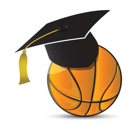 score under: Basketball training school illustration design over white