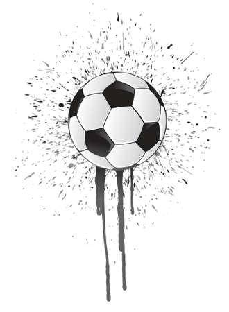ink splatter soccer ball illustration design over white Illusztráció