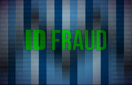 con man: ID fraud binary background illustration design graphic