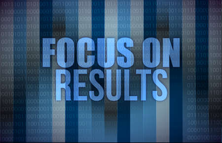 focus on results on digital touch screen illustration design Stock Illustration - 18323963