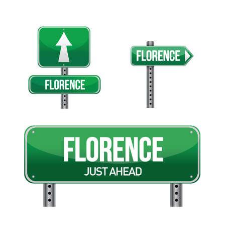 aria: florencia carretera ciudad ilustraci�n muestra el dise�o en blanco
