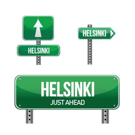 aria: helsinki carretera ciudad ilustraci�n muestra el dise�o en blanco Vectores