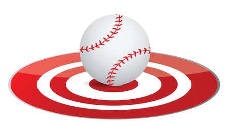 Baseball ball target concept illustration design over white
