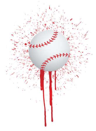 ink splatter baseball illustration design over white Illusztráció