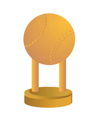 Gold Trophy Cup Baseball on a white background Stock Vector - 18427839
