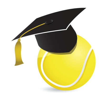 Tennis training school illustration design over white Illusztráció