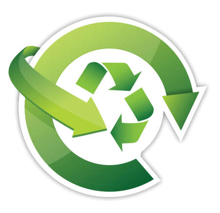 Recycle Arrows, recycle symbol cycle, illustration design over white