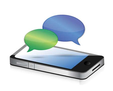 communication speech bubbles smartphone illustration design concept graphic