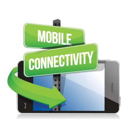 mobile connectivity concept illustration design over a white background design Illustration