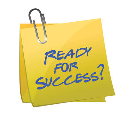 ready for success question on a post illustration design Vector