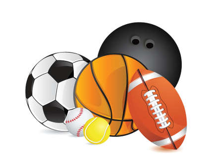 Sports balls concept illustration design over white