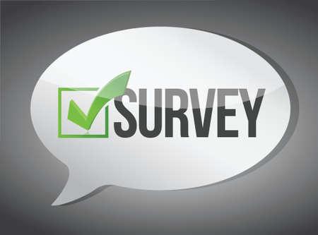 web survey: mensaje encuesta comunicaci�n concepto dise�o gr�fico ilustraci�n Vectores