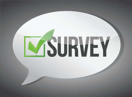 survey: survey message communication concept illustration design graphic Illustration
