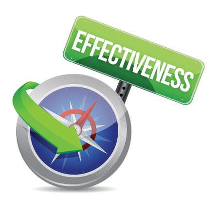 effectiveness Glossy Compass illustration design over white Stock Vector - 18487150