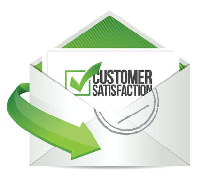 satisfaction: customer support mail message communication concept illustration design